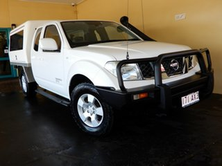 2013 Nissan Navara D40 MY12 ST-X (4x4) White 5 Speed Automatic King Cab Chassis