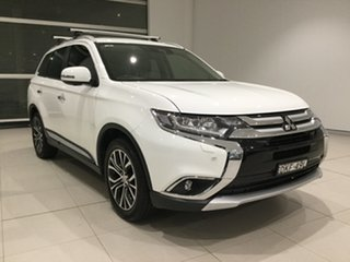 2016 Mitsubishi Outlander ZK MY16 Exceed 4WD White/gf6w 6 Speed Sports Automatic Wagon.