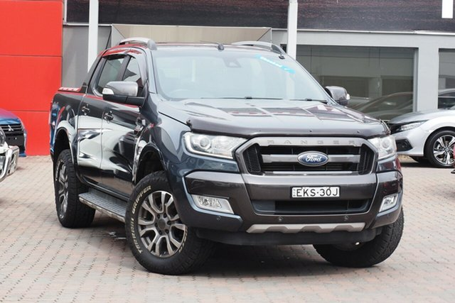 Used Ford Ranger PX MkII Wildtrak Double Cab Parramatta, 2015 Ford Ranger PX MkII Wildtrak Double Cab Grey 6 Speed Sports Automatic Utility