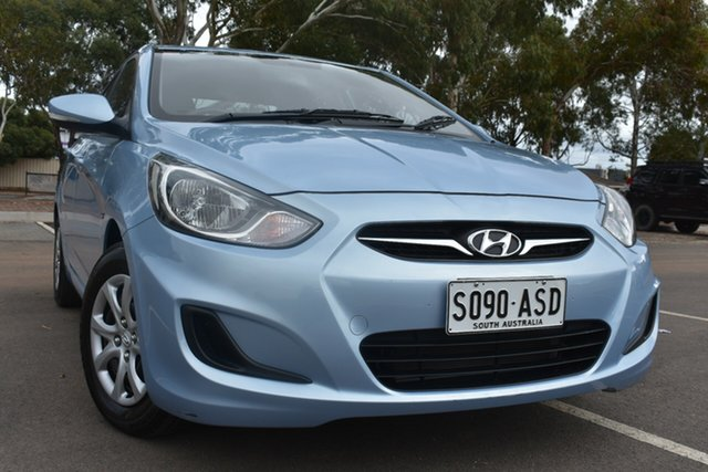 Used Hyundai Accent RB Active St Marys, 2012 Hyundai Accent RB Active Blue 4 Speed Sports Automatic Sedan