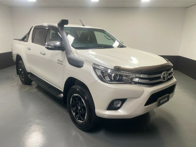 Used Toyota Hilux GUN126R SR5 Double Cab Cardiff, 2016 Toyota Hilux GUN126R SR5 Double Cab White 6 Speed Sports Automatic Utility