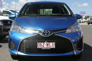2016 Toyota Yaris NCP130R Ascent Blue 5 Speed Manual Hatchback.