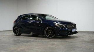 2018 Mercedes-Benz A-Class W176 808+058MY A200 DCT Cavansite Blue 7 Speed.