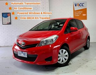 2013 Toyota Yaris NCP130R YR Red 4 Speed Automatic Hatchback.