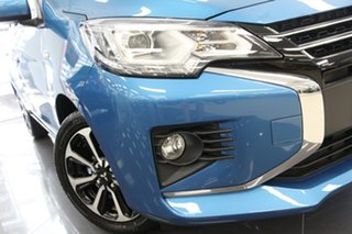 2021 Mitsubishi Mirage LB MY22 ES Cyber Blue 1 Speed Constant Variable Hatchback.