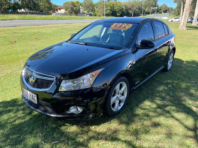 Used Holden Cruze JH Series II MY13 Equipe Clontarf, 2012 Holden Cruze JH Series II MY13 Equipe Black 6 Speed Sports Automatic Hatchback