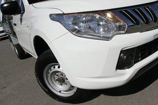 2015 Mitsubishi Triton MQ MY16 GLX 4x2 White Solid 5 Speed Sports Automatic Cab Chassis.
