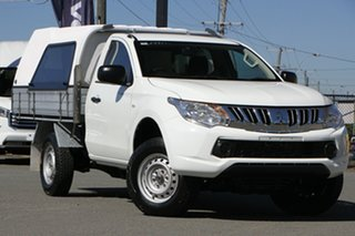 2015 Mitsubishi Triton MQ MY16 GLX 4x2 White Solid 5 Speed Sports Automatic Cab Chassis.