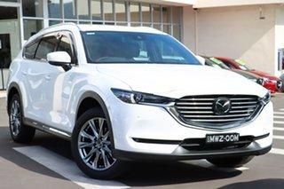 2020 Mazda CX-8 KG4W2A Asaki SKYACTIV-Drive i-ACTIV AWD Snowflake White Pearl 6 Speed.