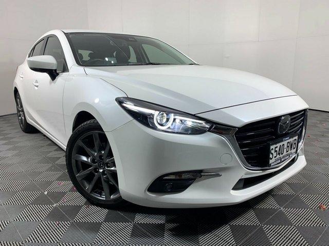 Used Mazda 3 BN5438 SP25 SKYACTIV-Drive Astina Wayville, 2018 Mazda 3 BN5438 SP25 SKYACTIV-Drive Astina White Pearl 6 Speed Sports Automatic Hatchback