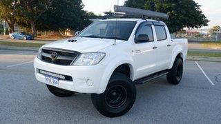 2008 Toyota Hilux KUN26R MY09 SR White 4 Speed Automatic Utility.