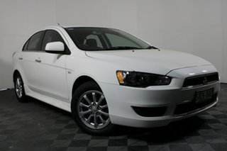 2014 Mitsubishi Lancer CJ MY14.5 LX White Solid 6 Speed Constant Variable Sedan.