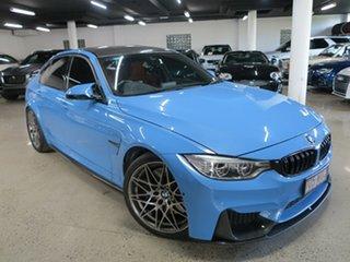 2016 BMW M3 F80 LCI Competition M-DCT Yasmarinablue 7 Speed Sports Automatic Dual Clutch Sedan.