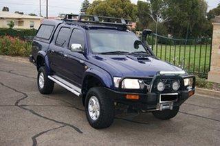 2002 Toyota Hilux KZN165R (4x4) Blue 5 Speed Manual 4x4 Dual Cab Pick-up.