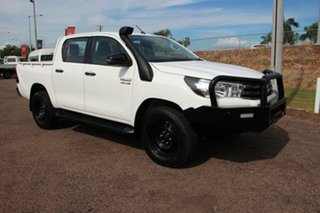 2018 Toyota Hilux GUN126R SR Double Cab Glacier White 6 Speed Manual Dual Cab.