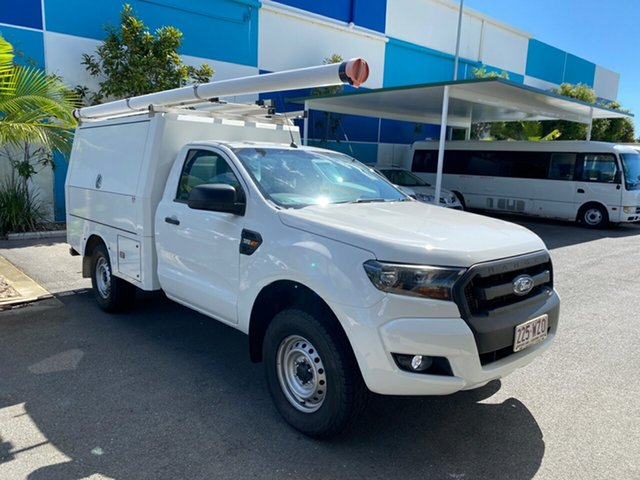 Used Ford Ranger PX MkII XL Robina, 2016 Ford Ranger PX MkII XL White 6 speed Automatic Cab Chassis