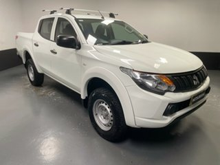 2018 Mitsubishi Triton MQ MY18 GLX Double Cab White 6 Speed Manual Cab Chassis.
