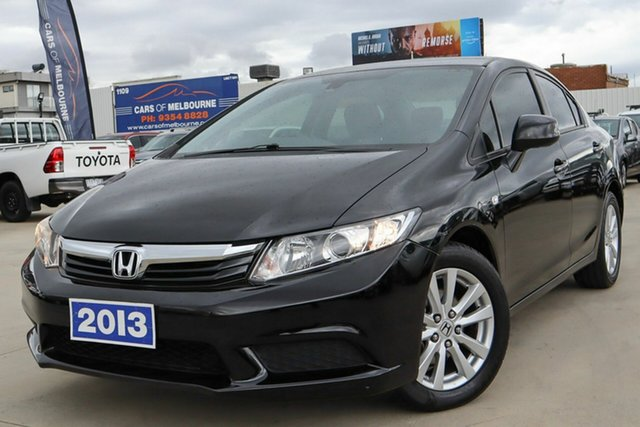Used Honda Civic 9th Gen Ser II MY13 VTi-L Coburg North, 2014 Honda Civic 9th Gen Ser II MY13 VTi-L Black 5 Speed Sports Automatic Sedan