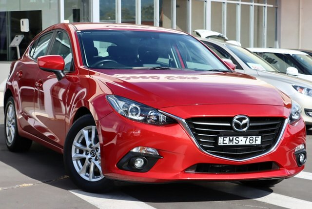 Used Mazda 3 BM5478 Touring SKYACTIV-Drive Wollongong, 2014 Mazda 3 BM5478 Touring SKYACTIV-Drive Soul Red 6 Speed Sports Automatic Hatchback