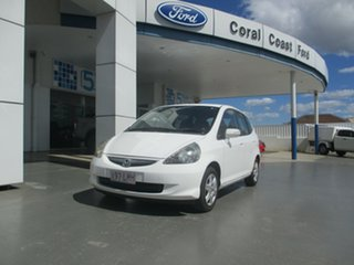 2008 Honda Jazz White Manual Hatchback.
