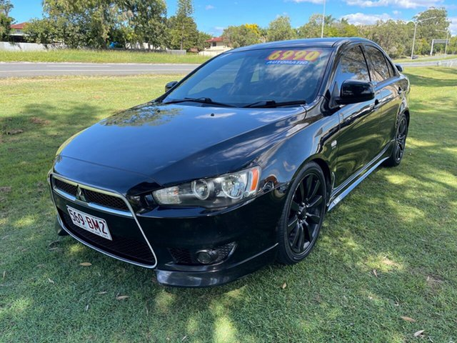 Used Mitsubishi Lancer CJ MY09 VR-X Clontarf, 2009 Mitsubishi Lancer CJ MY09 VR-X Black 6 Speed Constant Variable Sedan
