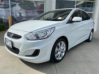 2018 Hyundai Accent RB6 MY18 Sport Chalk White 6 Speed Sports Automatic Sedan