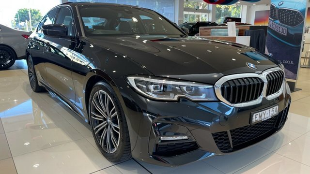 Demo BMW 3 Series G20 320i Steptronic M Sport Newcastle West, 2020 BMW 3 Series G20 320i Steptronic M Sport Black Sapphire 8 Speed Sports Automatic Sedan