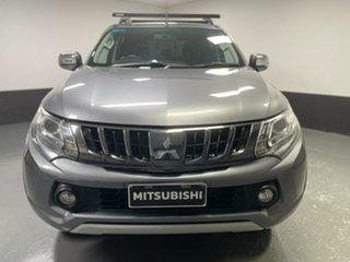 2017 Mitsubishi Triton MQ MY18 GLS Double Cab Grey 5 Speed Sports Automatic Utility.