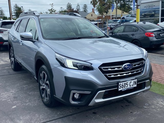 Demo Subaru Outback B7A MY21 AWD Touring CVT Glenelg, 2021 Subaru Outback B7A MY21 AWD Touring CVT Ice Silver 8 Speed Constant Variable Wagon