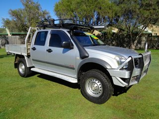 2005 Holden Rodeo RA MY05 LX Crew Cab Silver 5 Speed Manual Cab Chassis.