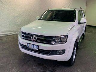 2015 Volkswagen Amarok 2H MY15 TDI420 4Motion Perm Highline White 8 Speed Automatic Utility.