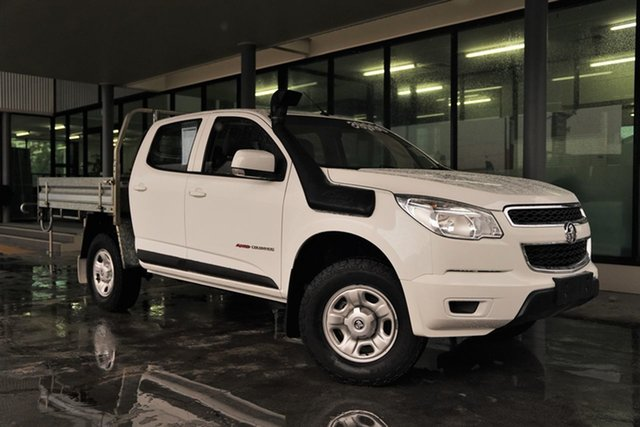 Used Holden Colorado RG MY16 LS Crew Cab Cairns, 2016 Holden Colorado RG MY16 LS Crew Cab White 6 Speed Sports Automatic Cab Chassis