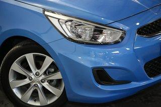 2017 Hyundai Accent RB6 MY18 Sport Blue 6 Speed Sports Automatic Sedan.