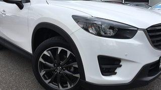 2016 Mazda CX-5 KE1022 Grand Touring SKYACTIV-Drive AWD White 6 Speed Sports Automatic Wagon.