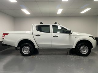 2018 Mitsubishi Triton MQ MY18 GLX Double Cab White 6 Speed Manual Cab Chassis