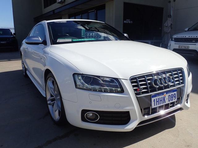 Used Audi S5 8T 4.2 FSI Quattro Wangara, 2010 Audi S5 8T 4.2 FSI Quattro White Crystal 6 Speed Tiptronic Coupe