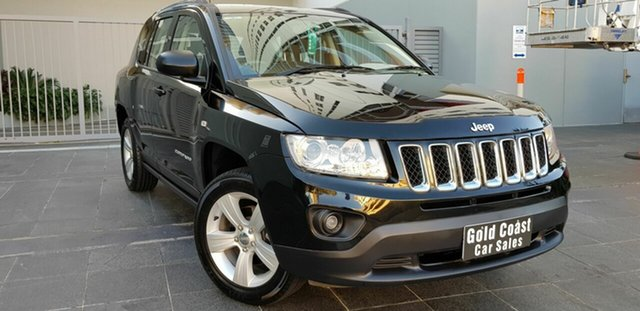 Used Jeep Compass MK MY14 Sport (4x2) Southport, 2013 Jeep Compass MK MY14 Sport (4x2) Black 6 Speed Automatic Wagon