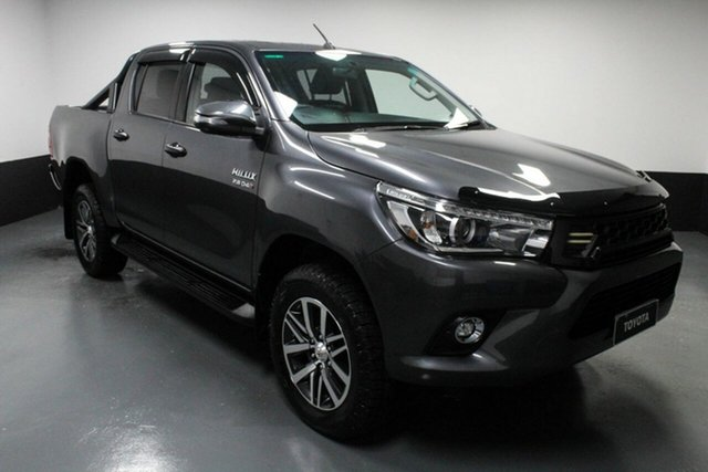 Used Toyota Hilux GUN126R SR5 Double Cab Cardiff, 2018 Toyota Hilux GUN126R SR5 Double Cab Grey 6 Speed Manual Utility