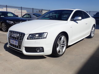 2010 Audi S5 8T 4.2 FSI Quattro White Crystal 6 Speed Tiptronic Coupe.
