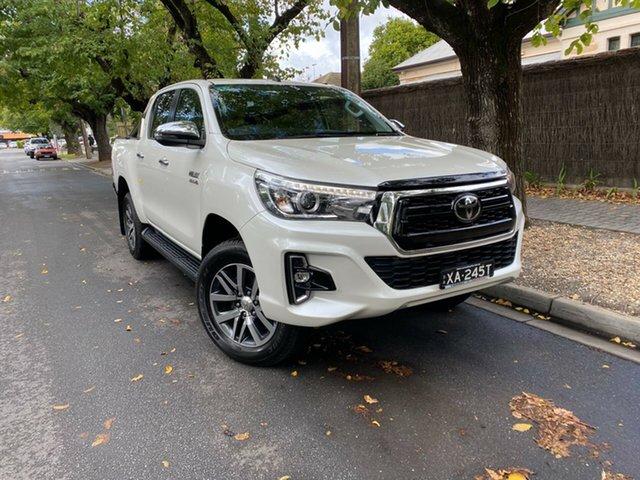 Used Toyota Hilux GUN126R SR5 Double Cab Hawthorn, 2019 Toyota Hilux GUN126R SR5 Double Cab Crystal Pearl 6 Speed Sports Automatic Utility