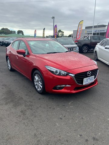 Used Mazda 3 BN5278 Maxx SKYACTIV-Drive Warrnambool East, 2017 Mazda 3 BN5278 Maxx SKYACTIV-Drive Red 6 Speed Sports Automatic Sedan