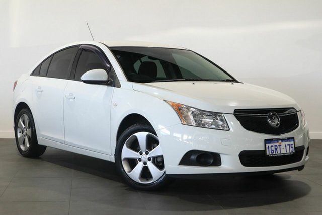 Used Holden Cruze JH Series II MY13 Equipe Bayswater, 2013 Holden Cruze JH Series II MY13 Equipe White 6 Speed Sports Automatic Sedan