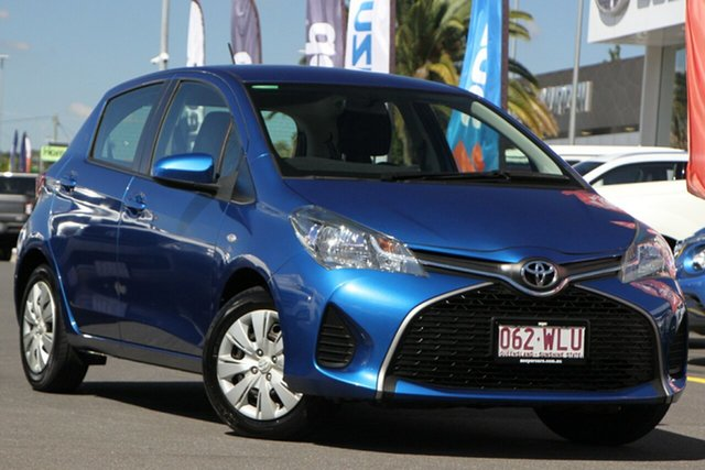 Used Toyota Yaris NCP130R Ascent Aspley, 2016 Toyota Yaris NCP130R Ascent Blue 5 Speed Manual Hatchback