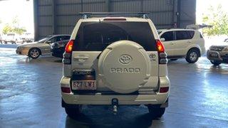 2007 Toyota Landcruiser Prado GRJ120R VX White 5 Speed Automatic Wagon.