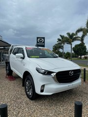 2021 Mazda BT-50 XT White 6 Speed Automatic Cab Chassis.