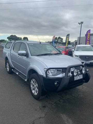Used Mitsubishi Triton MN MY13 GLX-R Double Cab Warrnambool East, 2013 Mitsubishi Triton MN MY13 GLX-R Double Cab Silver 5 Speed Sports Automatic Utility