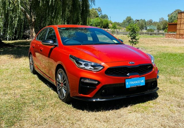 Demo Kia Cerato BD MY21 GT DCT Mount Barker, 2020 Kia Cerato BD MY21 GT DCT Sunset Orange 7 Speed Manual Sedan