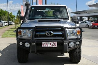 2018 Toyota Landcruiser VDJ79R GXL Double Cab Silver Pearl 5 Speed Manual Cab Chassis