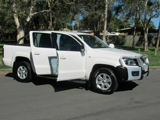 2013 Volkswagen Amarok 2H MY14 TDI420 4Motion Perm Highline White 8 Speed Automatic Utility