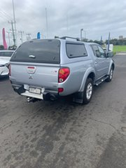 2013 Mitsubishi Triton MN MY13 GLX-R Double Cab Silver 5 Speed Sports Automatic Utility